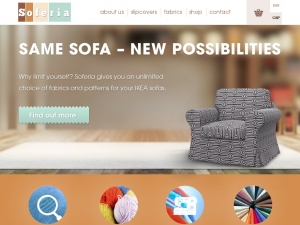 Soferia -  Ikea sofa slipcovers. Welcome.